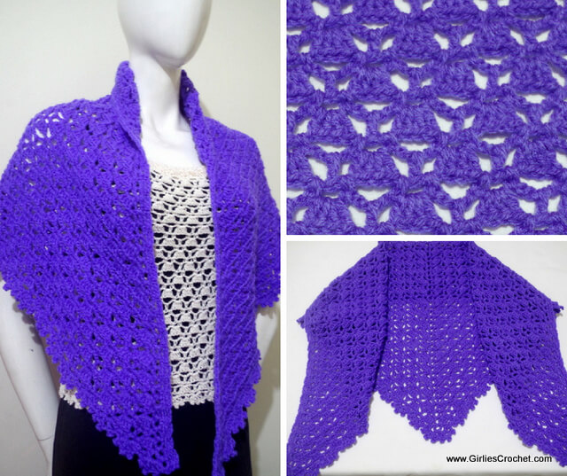 Free crochet pattern : Emma Prayer Shawl