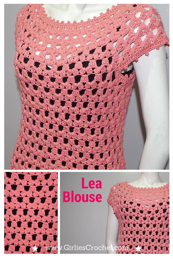 Easy Crochet Top Patterns For Beginners : Lea Blouse