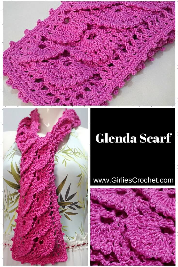 Free easy crochet scarf pattern with photo tutorial in each step.