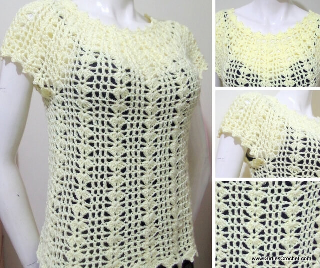 free crochet pattern, eunice summer top