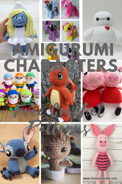 Free crochet patterns: Amigurumi Characters