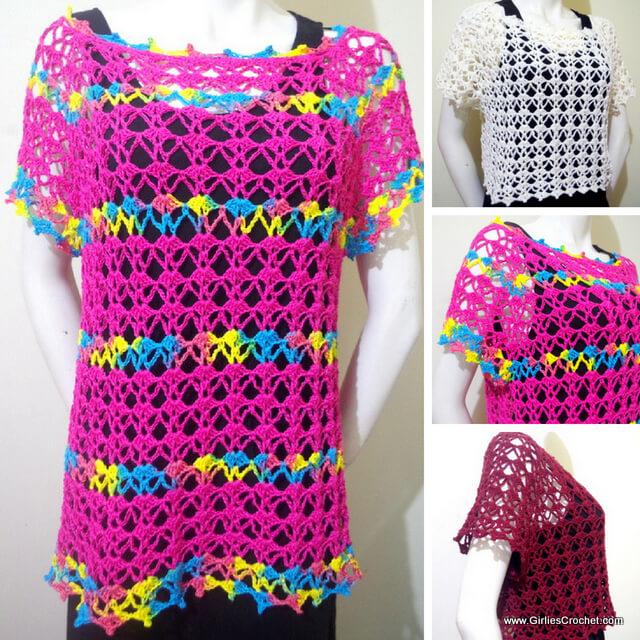 Free crochet pattern : Audrey Summer Top