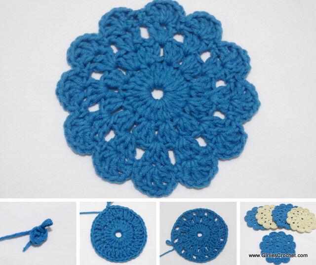 Free crochet pattern - Beginners Crochet Coaster