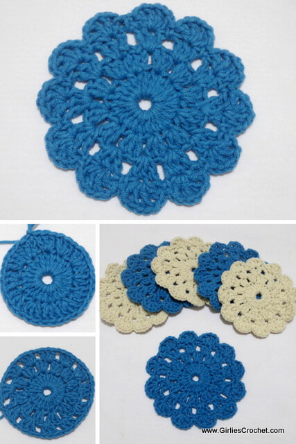 Beginners Crochet Coaster