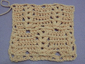 Crochet Fpdc : Front post double crochet (FPdc) - Crochet Stitch Glossary
