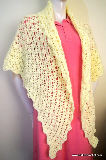 free crochet pattern, carol prayer shawl