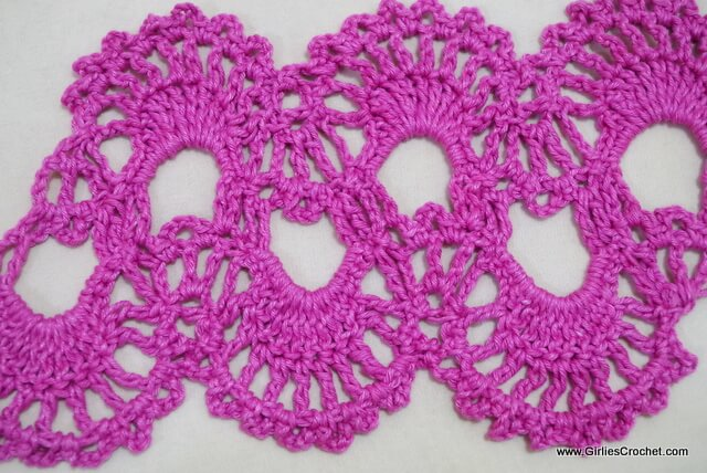 free crochet stitch tutorial, ch, dc, hdc, trc, fan stitch