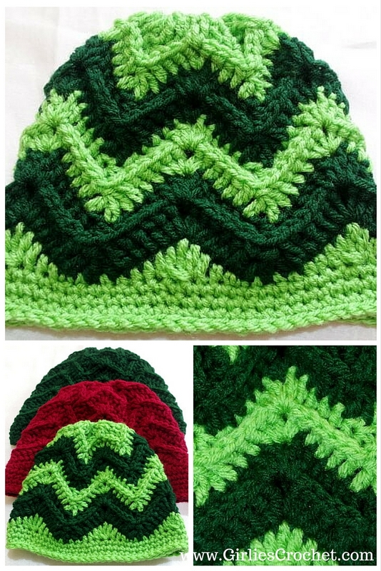 george chevron beanie, free crochet pattern, beanie for kids, beanie for men
