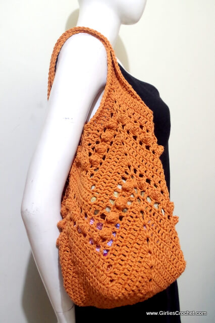 Free crochet pattern : Chevron Summer Bag