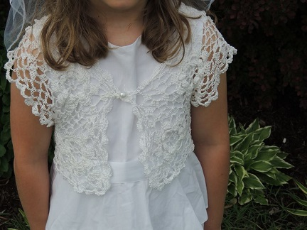 Communion Dress with Crocheted Bolero2