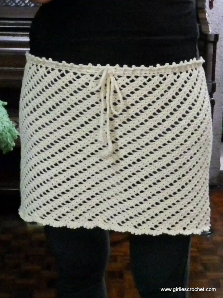 cover-up skirt, free crochet pattern, easy, thread