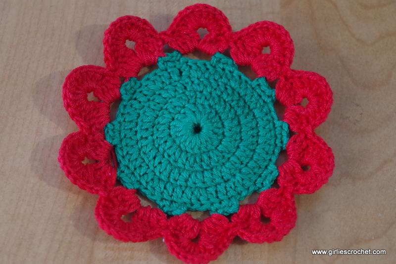 Crochet Flower Coaster