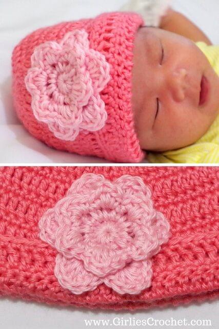 Free crochet pattern: Easy Crochet Flower