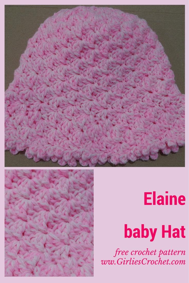free crochet pattern, baby hat