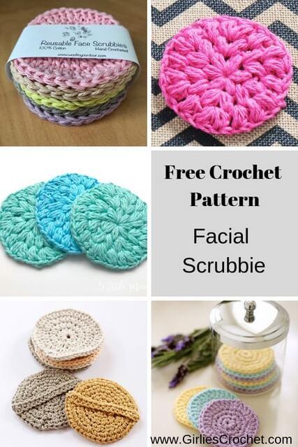 free crochet pattern facial scrubbie