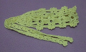 free crochet pattern thread headband, easy, photo tutorial