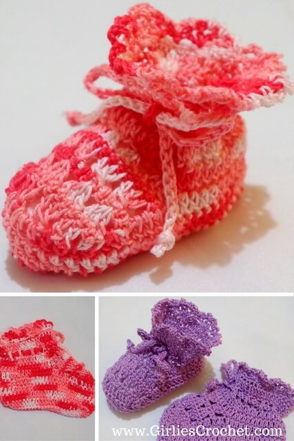 Bev39s Shell Easy Baby Booties Free Crochet Pattern T