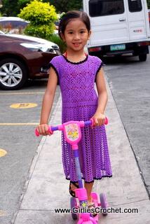kelly summer dress toddler, free crochet pattern, thread, easy, shell st