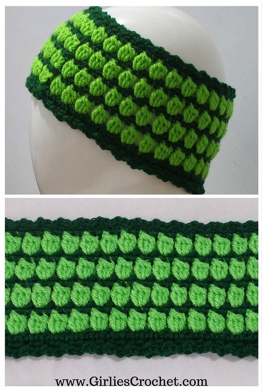 free crochet pattern, headband, ear warmer, cluster stitch, lemon headband