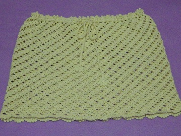 Crochet Cover-up Skirt Tutorial
