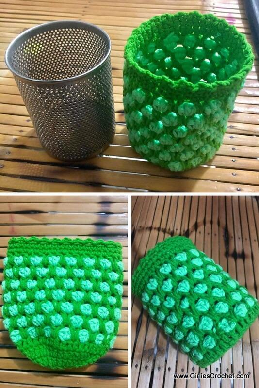 Free crochet pattern Moroccan Pen Holder