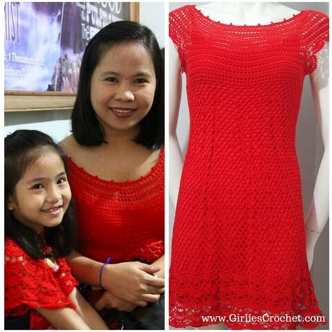 my holiday season crochet dress, happy new year, thread crochet, valentines crochet dress