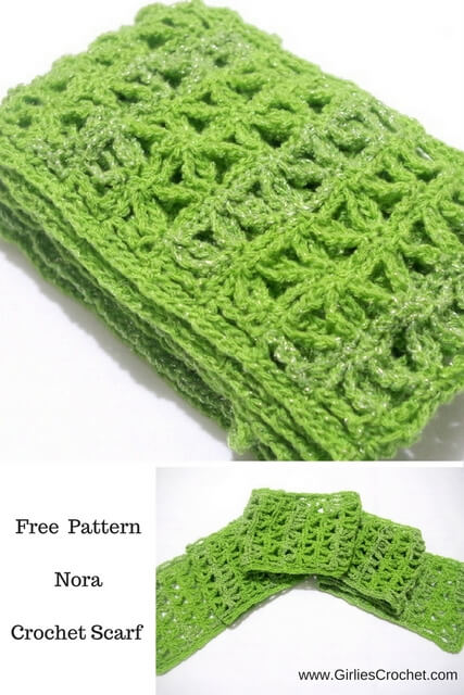 nora crochet scarf