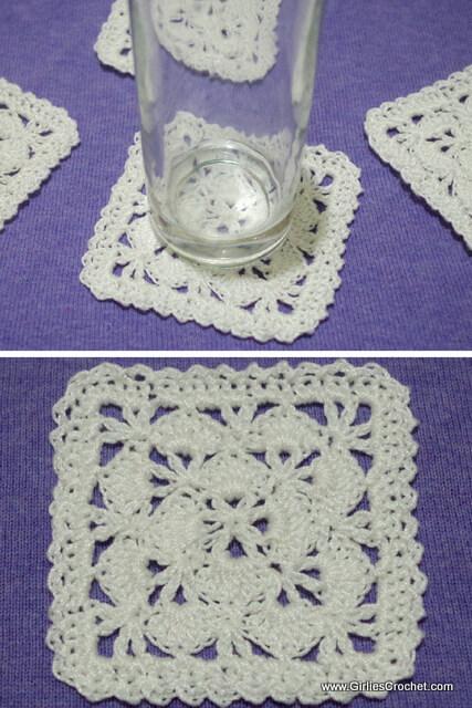 Free crochet pattern: Petunia Coaster