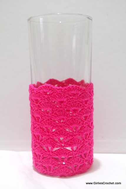 Free crochet pattern: Petunia Glass Holder