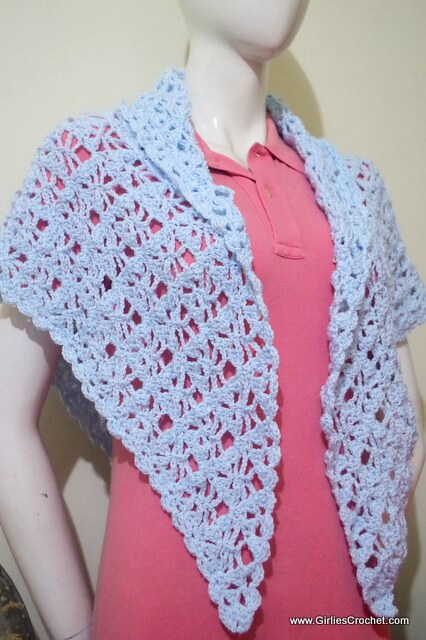 free crochet pattern, susie prayer shawl