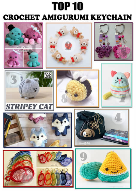 Free crochet patterns : Top 10 Amigurumi Keychains