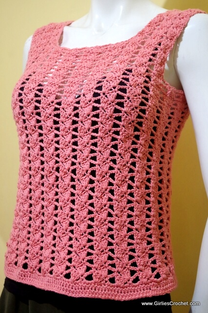 Easy Crochet Top Patterns For Beginners : Carla Summer Top