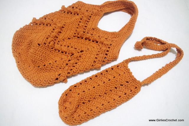 Free crochet pattern: Chevron Summer Bag and Bottle Holder