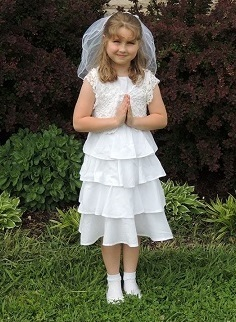 Communion Dress with Crocheted Bolero, free crochet pattern, easy, thread crochet, pattern for beginners