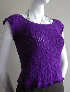 textured crochet top