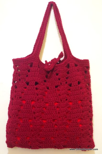 free crochet pattern, crochet christmas bag, easy,