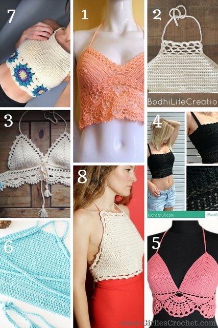 Free crochet pattern, crochet crop top