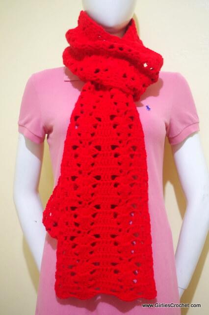 crochet super scarf, free crochet pattern, easy