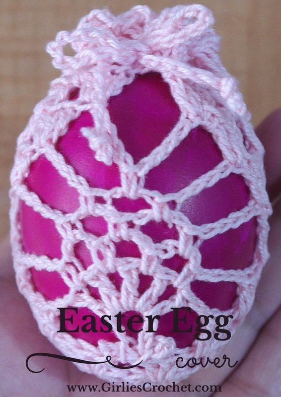 free crochet pattern, easter egg cover, easy, photo tutorial, thread crochet