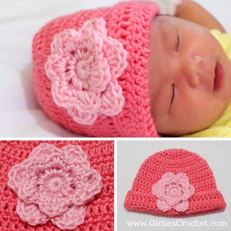 easy crochet flower, free crochet pattern