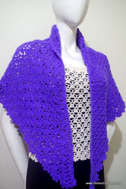 Free crochet pattern : Emma Prayer Shawl