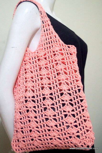 free crochet pattern ; Eunice Summer Bag