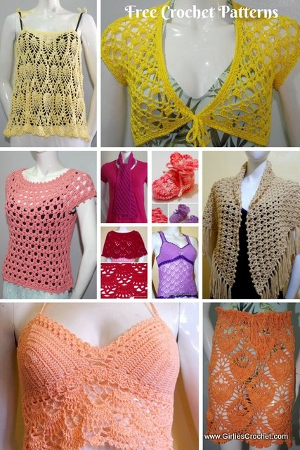 free crochet pattern, thread crochet, easy, crochet for beginners, scarf, blouse, top, summer, hat, poncho, skirt, dress, kid's pattern, home decor