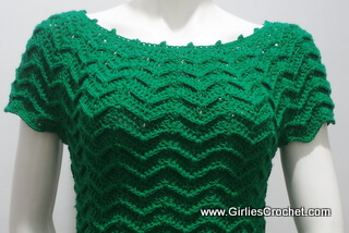 free crochet pattern, easy, top, pattern for beginners, chevron design