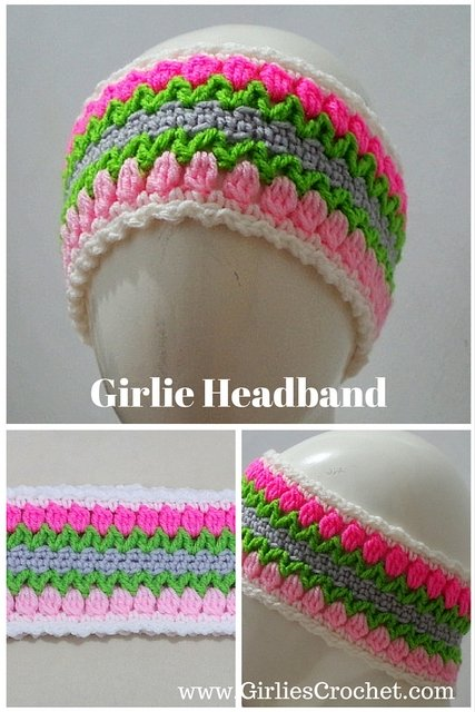 free crochet pattern, ear warmer, girlie headband, flower headband, easy, photo tutorial
