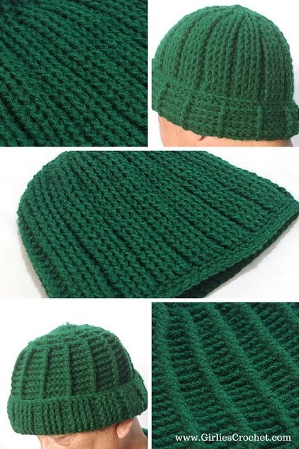 Free Crochet Pattern, Jojo Reversible Beanie, hat for men