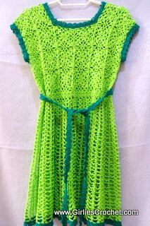 kelly summer dress toddler, free crochet pattern, thread, easy, shell st