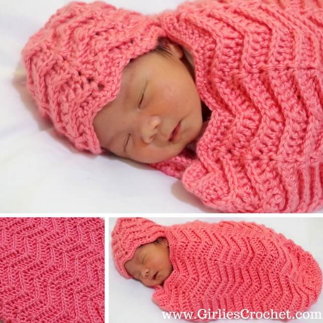 free crochet pattern, ylah baby cocoon